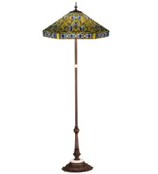 "63""H Tiffany Elizabethan Floor Lamp"