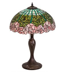 "23""H Cabbage Rose Table Lamp"