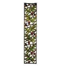 """9""""W X 42""""H Acorn & Oak Leaf Stained Glass Window"""