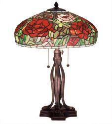 """23.5""""H Tiffany Peony Table Lamp"""