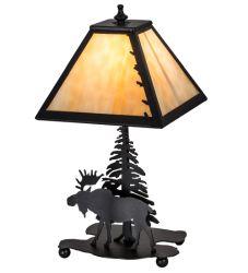 "15.5""H Lone Moose Accent Lamp"