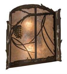 """15""""W Whispering Pines Wall Sconce"""
