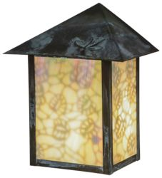 """9""""W Seneca Lotus Leaf And Dragonfly Wall Sconce"""