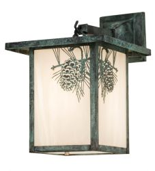 """9""""W Hyde Park Winter Pine Wall Sconce"""