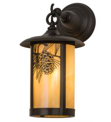 """8""""W Fulton Winter Pine Hanging Wall Sconce"""