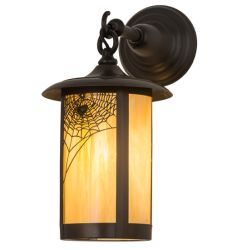 """8""""W Fulton Spider Web Hanging Wall Sconce"""