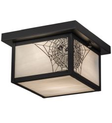 "10""Sq Hyde Park Spider Web Flushmount"
