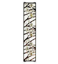 """9""""W X 42""""H Magnolia Stained Glass Window"""
