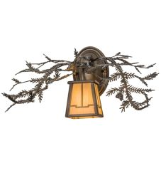 """16""""W Pine Branch Valley View Wall Sconce"""