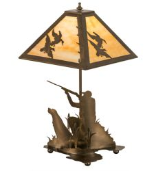 "21""H Duck Hunter W/Dog Table Lamp"