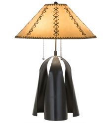 "23""H Sedona Faux Leather Shade Table Lamp"
