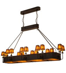 "82""L Carpathian 16 Lt Oblong Chandelier"