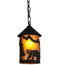 "6""W Northwoods Lone Bear Mini Pendant"