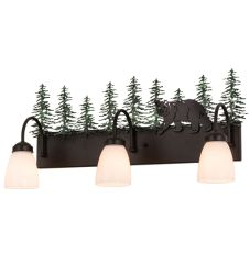 "27""W Northwoods Lone Bear 3 Lt Vanity Light"