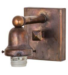 "4""W Vintage Copper 1 Lt Wall Sconce Hardware"