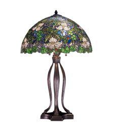"""30""""H Trillium & Violet Table Lamp"""