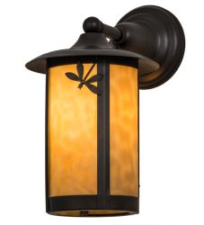"""8""""W Fulton Dragonfly Solid Mount Wall Sconce"""