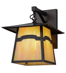 """12""""W Stillwater Mountain View Hanging Wall Sconce"""