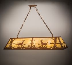 "60""L Deer At Lake Oblong Pendant"
