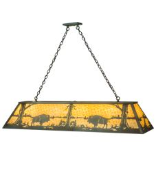 "61""L Buffalo Oblong Pendant"