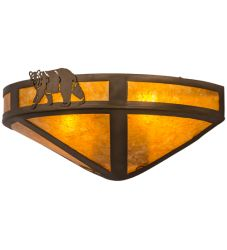 """16""""W Northwoods Lone Bear Wall Sconce"""