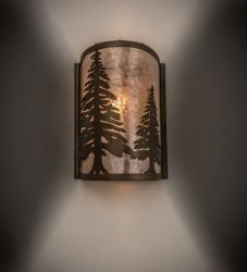 "8""W Tall Pines Wall Sconce"