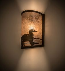 """8""""W Loon Right Wall Sconce"""