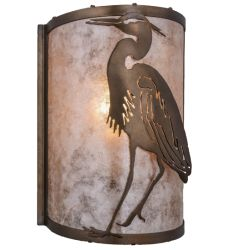 """8""""W Heron Left Wall Sconce"""