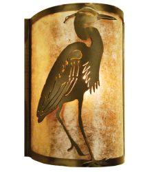 """8""""W Heron Right Wall Sconce"""