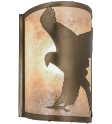 "8""W Flying Hawk Left Wall Sconce"