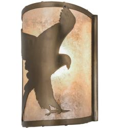 "8""W Flying Hawk Right Wall Sconce"