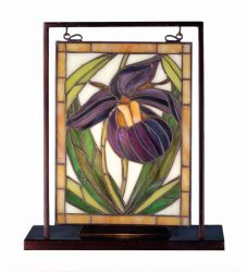 """9.5""""W X 10.5""""H Lady Slippers Lighted Mini Tabletop Window"""