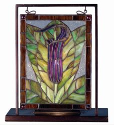 "9.5""W X 10.5""H Jack-in-the-Pulpit Lighted Mini Tabletop Window"