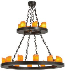 """36""""W Loxley 18 LT Two Tier Chandelier"""