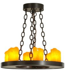 """18""""W Loxley 6 Lt Chandelier"""