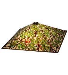 """26""""Sq Acorn & Oak Leaf Shade"""
