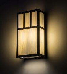 "6.5""W Hyde Park Double Bar Mission Wall Sconce"
