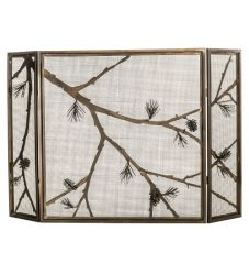 "62""W X 40""H Lone Pine Folding Fireplace Screen"