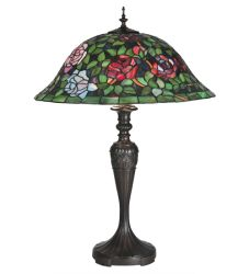 """28""""H Tiffany Rosebush Table Lamp"""
