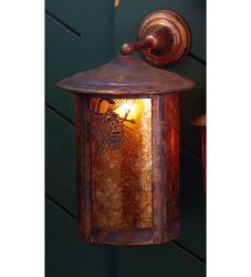 """12""""W Fulton Winter Pine Solid Mount Wall Sconce"""