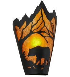 "8""W Bear At Dawn Wall Sconce"