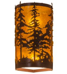 "6""W Tall Pines Corner Wall Sconce"