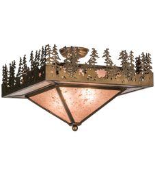 """19""""Sq Pine Lake Flushmount"""