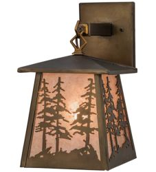 """7""""W Tall Pines Hanging Wall Sconce"""