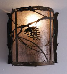 "6""W Whispering Pines Wall Sconce"