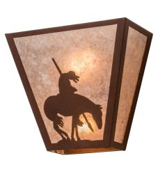"13""W Trail'S End Wall Sconce"