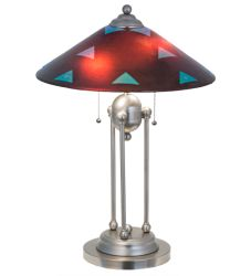 "25""H Metro Fusion Plum Crazy Deco Ball Table Lamp"
