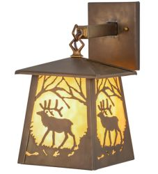 """7""""W Elk At Dawn Hanging Wall Sconce"""