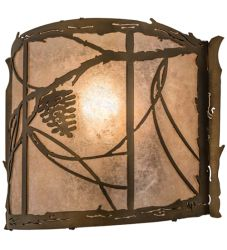 """12""""W Whispering Pines Wall Sconce"""