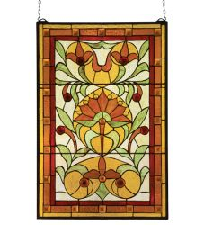 "20""W X 30""H Picadilly Stained Glass Window"